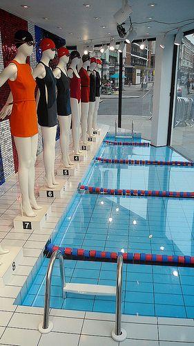 Joseph Olympic windows swimming pool effect in acrylic