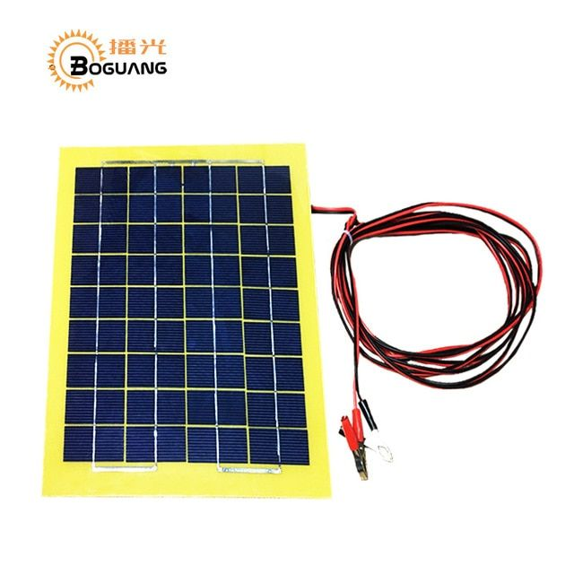Boguang 18v 8w Pcb Polysilicon Solar Panel Cell Module Back Of The Junction Box 4m Alligator Clip Cable Solar Energy Panels Solar Panels Solar Energy Solutions