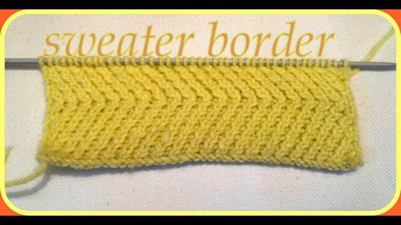 Sweater Border Design Diagonal Shape Knitting Pinterest