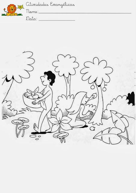 ME ABURRE LA RELIGIÓN: ACTIVIDADES ADÁN Y EVA | Clases Bíblicas para ...