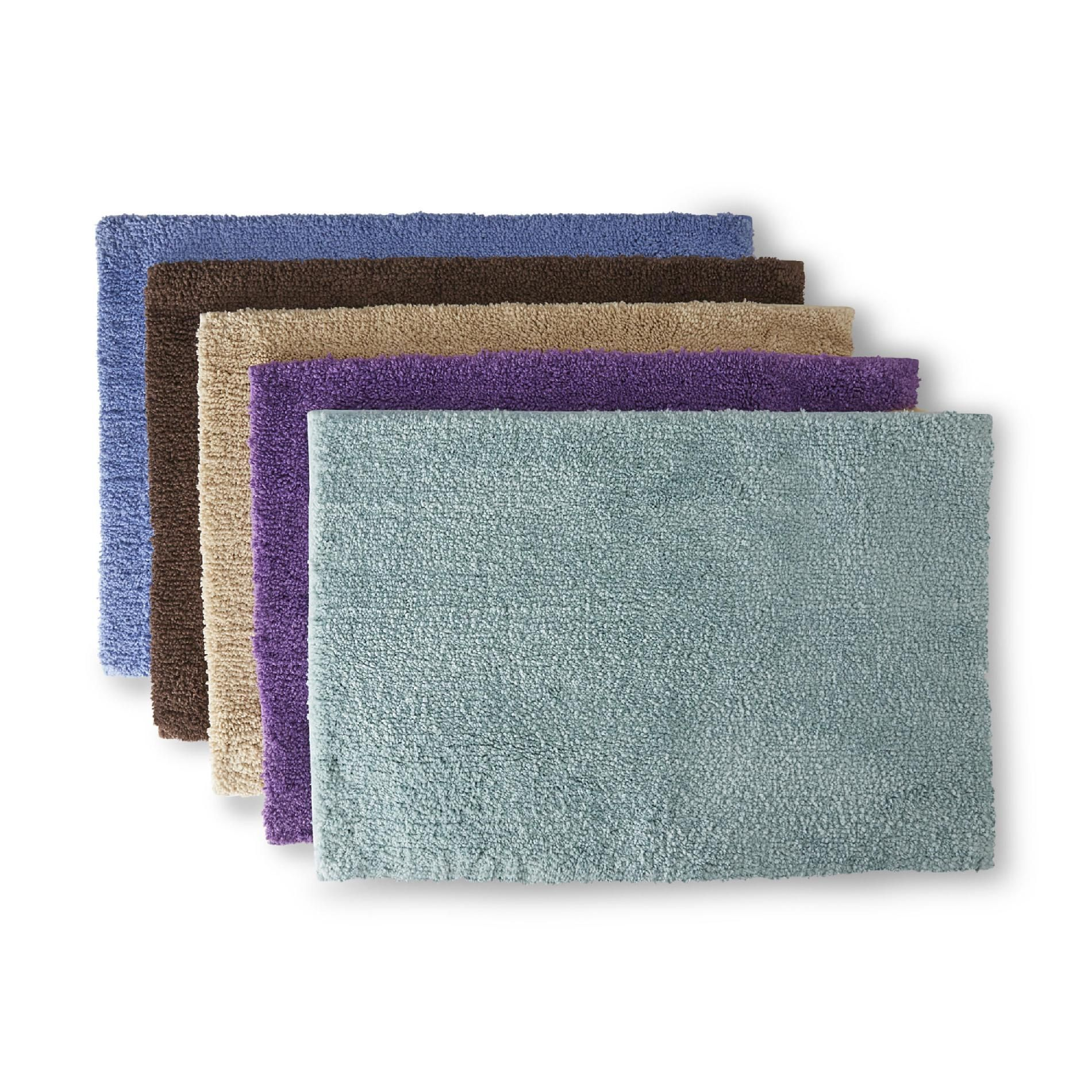 Plush Bathroom Rugs Colormate Soft Plush Microfiber Bath Rug Universal Lid Or