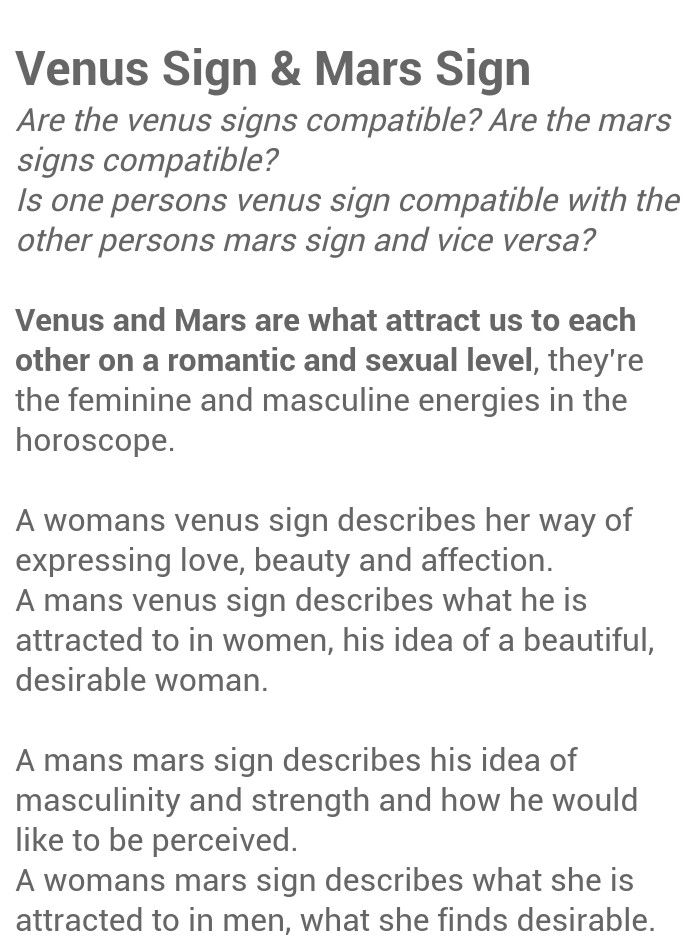 Love Sign Compatibility: Comparing Venus Signs in Astrology