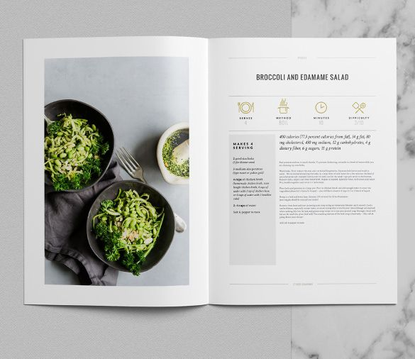 the Tribeca Cookbook Template InDesign Premium Download is a great ...