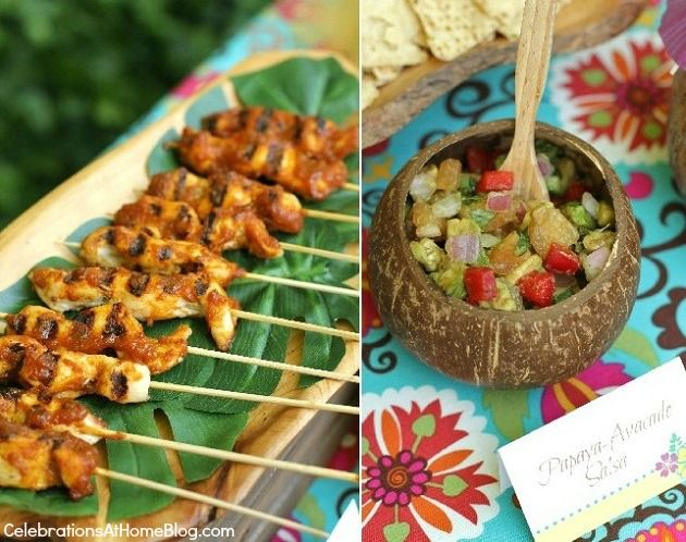 Superb Caribbean Dinner Party Menu Ideas Part - 6: Tropical Themed Party Ideas + FREE Printables U2014 Celebrations At Home
