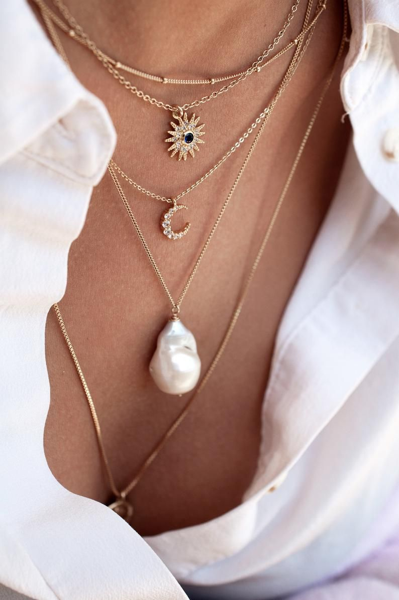Keishi Pearl Necklace 14k Gold Filled 18 Inches
