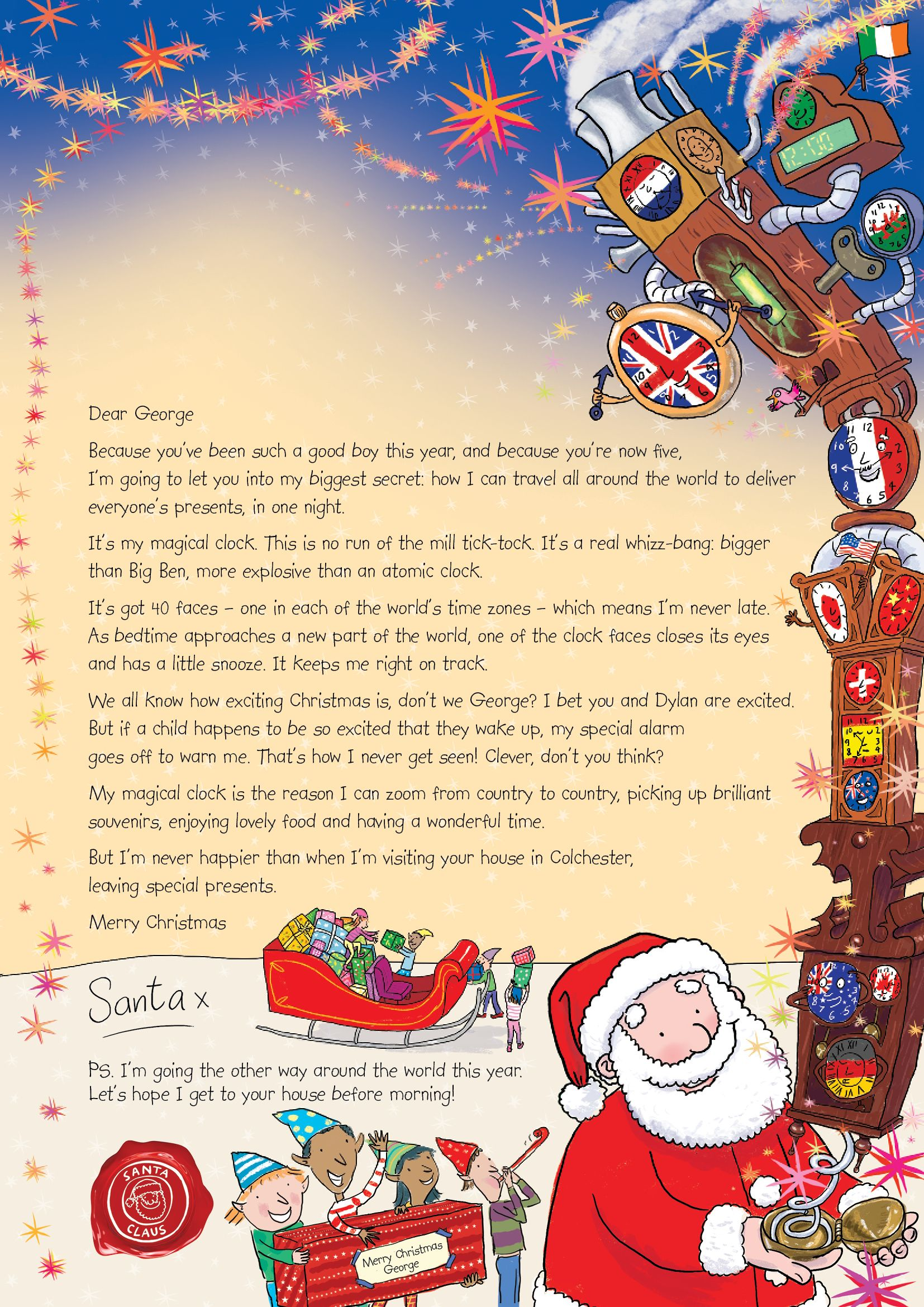 Nspcc letter from santa each letter is uniquely personalised nspcc letter from santa each letter is uniquely personalised with the childs name spiritdancerdesigns Image collections