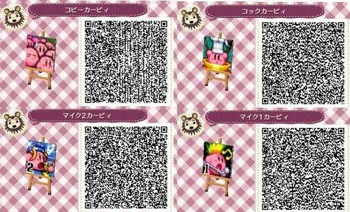 Kirby x4   AC:NL QR Codes   Pinterest