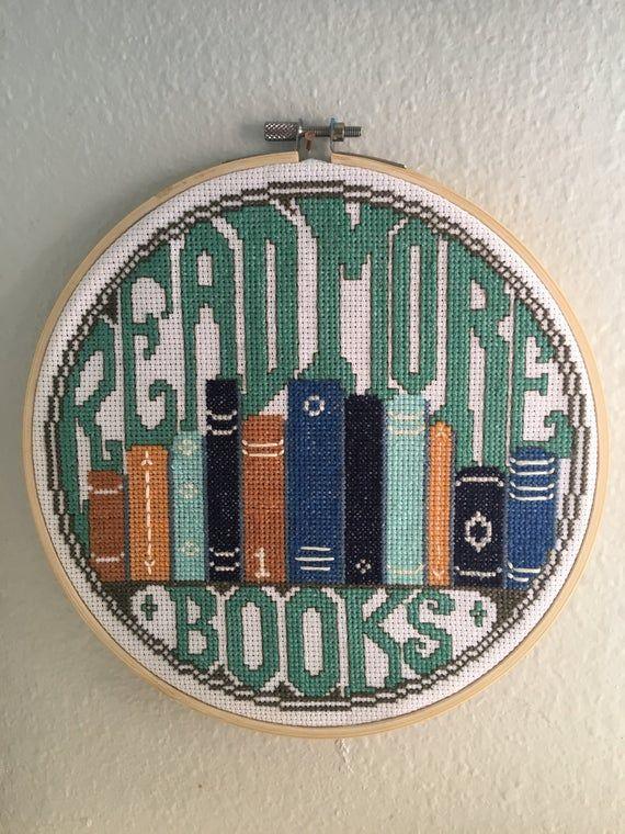 Photo of Read More Books – Cross Stitch Pattern (Printable PDF)