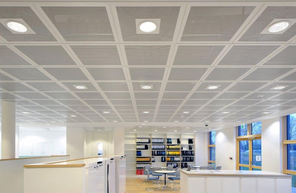 Suspended Ceiling Tiles Office Basement Ceiling Ideas In