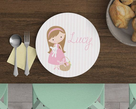 Egg hunting personalized kids plate easter plate custom egg hunting personalized kids plate easter plate custom plate easter gift negle Gallery