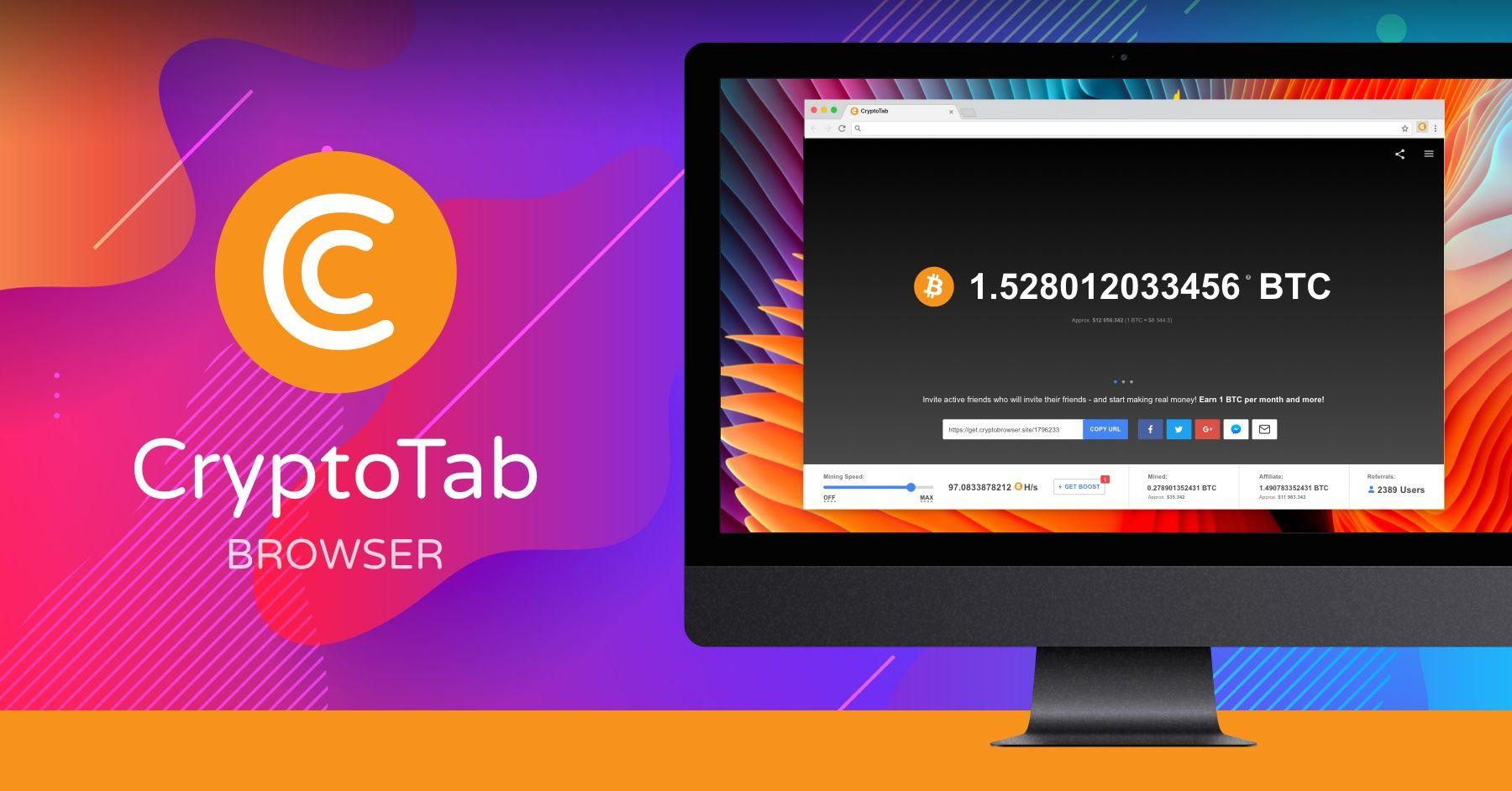 Hey everybody check out the brand new cryptotab browser