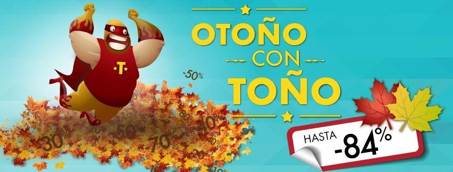 """Hasta 84% de descuento durante la promoción """"Otoño con Toño"""". Haz click para ver la oferta: http://cuponesdescuentos.com.mx/marca/2077"""