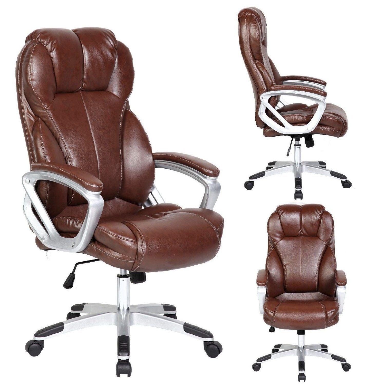 High Back Executive PU Leather Ergonomic Chair O10 brown
