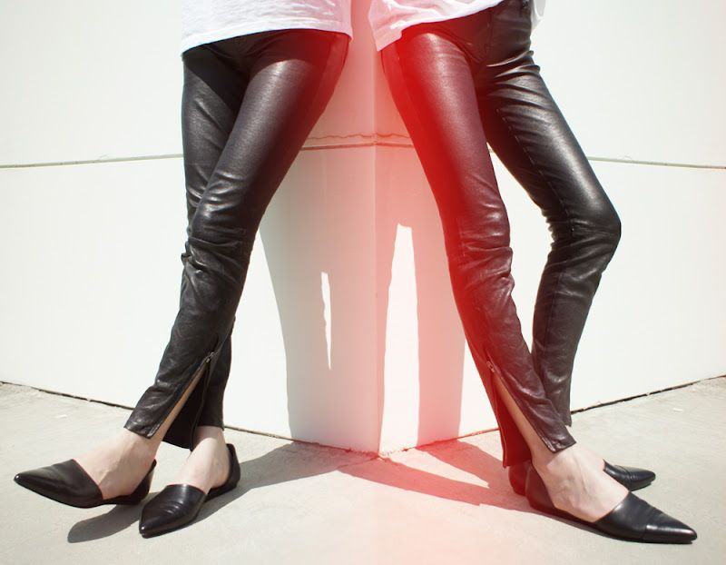 7f9c843b264d8f J Brand Leather Skinnies and Jenni Kayne D Orsay Flats.....effortlessly cool
