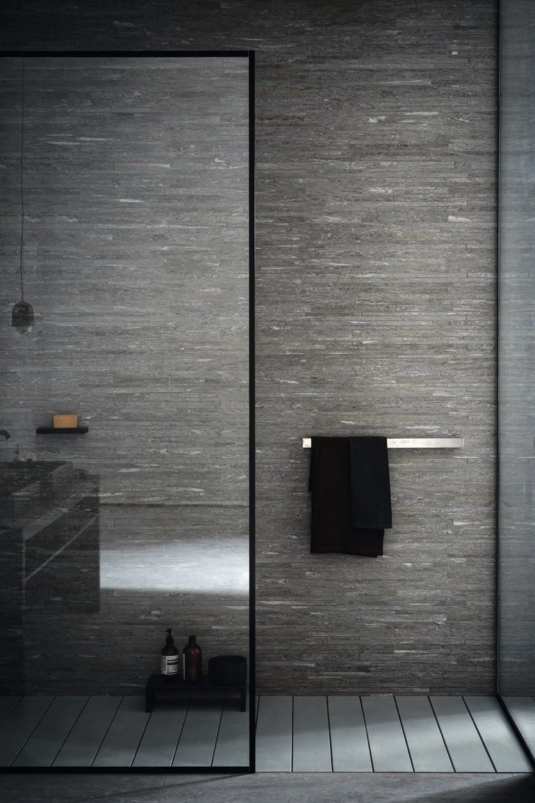 Douche: muur, kleur, warm, natuursteen - Badkamer | Pinterest ...