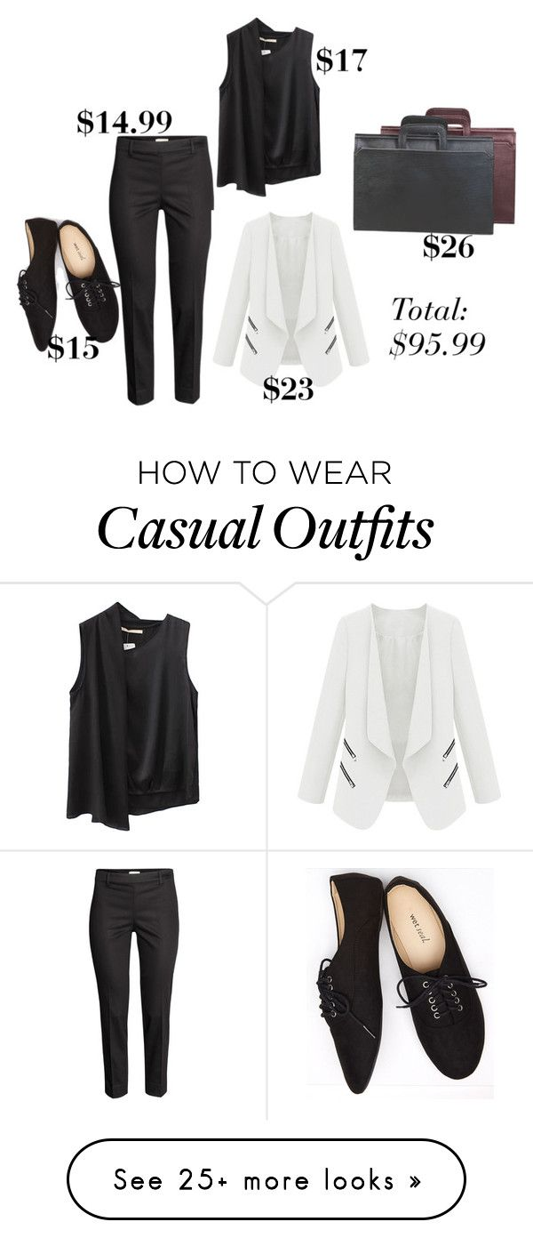 """""""Outfits Under $100: Business Casual"""" by littlemisshorovedy on Polyvore featuring H&M, Goodhope Bags and Wet Seal"""