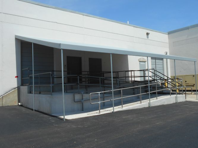 Ramp Awning For Manufacturing Plant In Baltimore A Hoffman