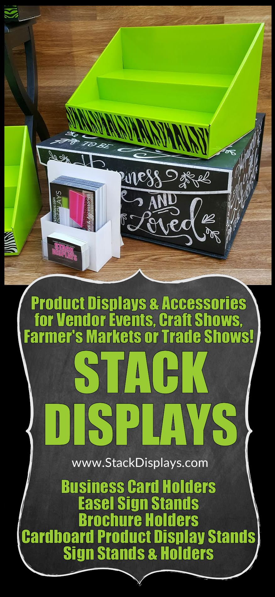 Cardboard Counter Display - Lime Green | Vendor events, Green ...