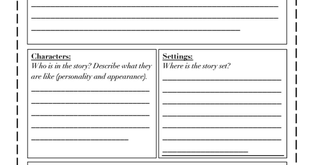 Book Review Template DifferentiatedPdf  JanS Stuff