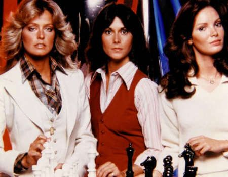 The 70's programme 'Charlies Angels'. I wasn't a fan of this show, in fact i couldn't stand it. I think it probably appealed more to spotty, hormonal young boys in my class at school!