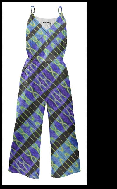 Modern Stripe Printed Tie Waist Jumpsuit by #dflcprints