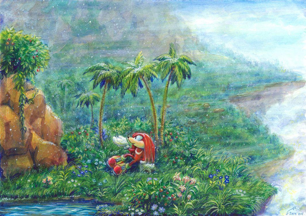 The Snowfall On Angel Island Sonic Art Sonic Fan Art Artist