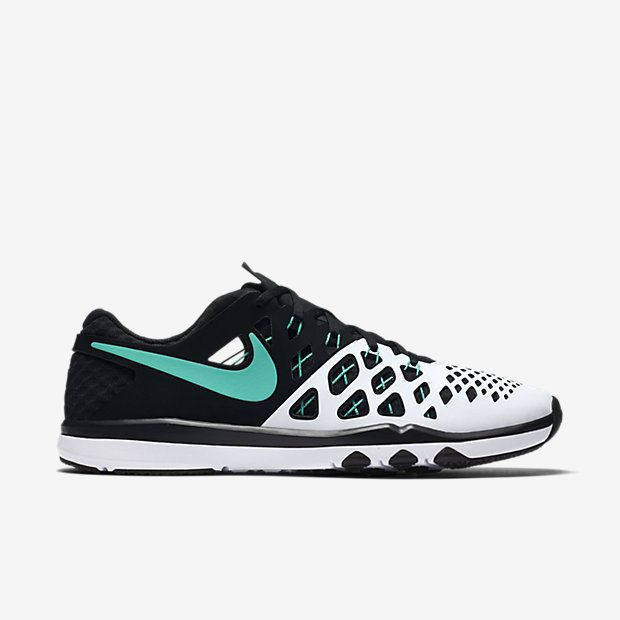 613bdad15589 Nike Train Speed 4 Mens Training Shoes 13 White Black Hyper Jade 843937 130…