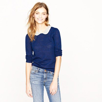 J. Crew_Peter Pan collar sweater/. wear with skinny light or royal ...