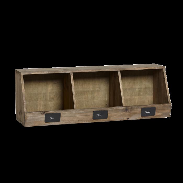 etagere murale rangement a 3 casiers