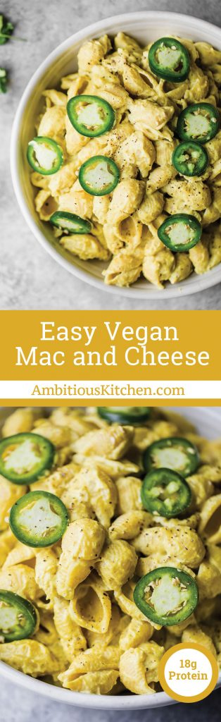 Easy Vegan Mac & Cheese #tacomacandcheese
