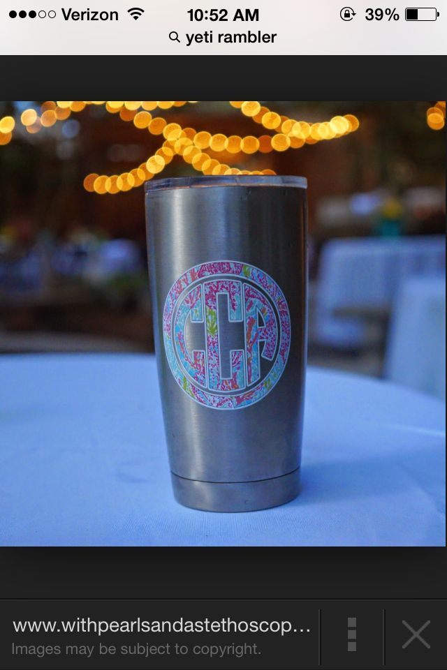 Monogram Yeti Cup Yes Please Monogram Addict