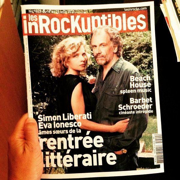 """""""Eva"""" et Simon Liberati en couverture de @lesinrocks... Plus d'infos et une vidéo sur MyBOOX !  http://www.myboox.fr/edito/video/interviews/interview-de-simon-liberati-propos-deva-rentree-litteraire-2015  #rentreelitteraire #instabook #bookstagram"""