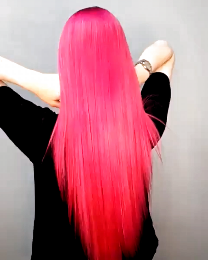 Amazingly gorgeous long pink locks by @nanameuw- Try our Lychee for the perfect hot pink! #lunartide