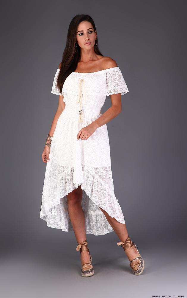 Luxury Online Sukienka Made In Italy Kolor Bialy Sukienki Codzienne Transparentny Koronka Cekiny Zdobienia Luxuryonline Dresses Fashion High Low Dress