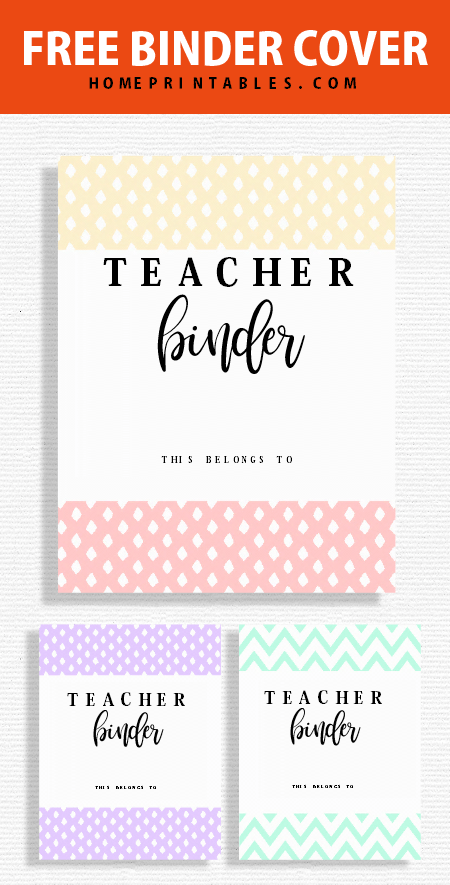 Free Teacher Binder Printables: 30+ Class Planners! - Home Printables #teacherplannerfree Choose from these cute teacher binder cover printables! #teacher #teacherbinder #printables #teacherplannerfree