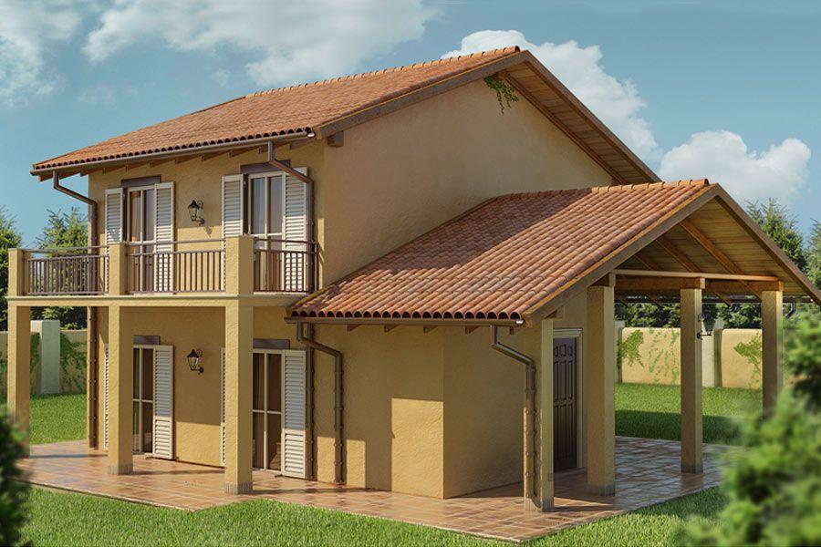 Progetto joy 02 progetti da realizzare villette a due for Moderni disegni di case a due piani