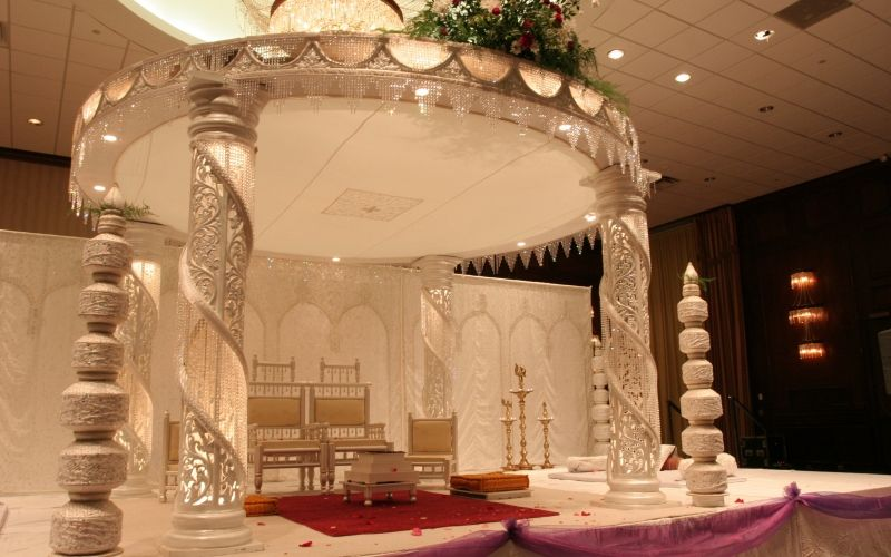 Outdoor Indian Wedding Stage Decorations Wedding Decoration