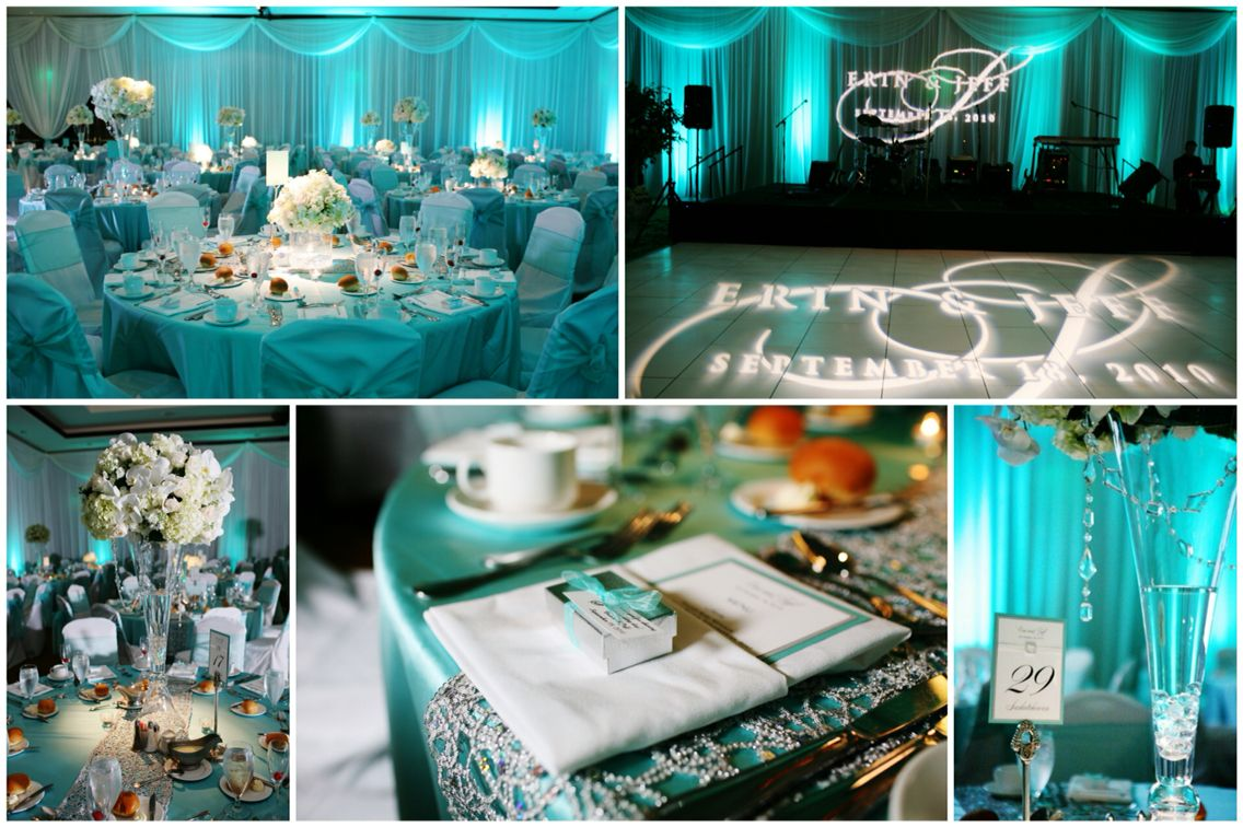 Turquoise Wedding Lighting. turquoise and white wedding decorations ...