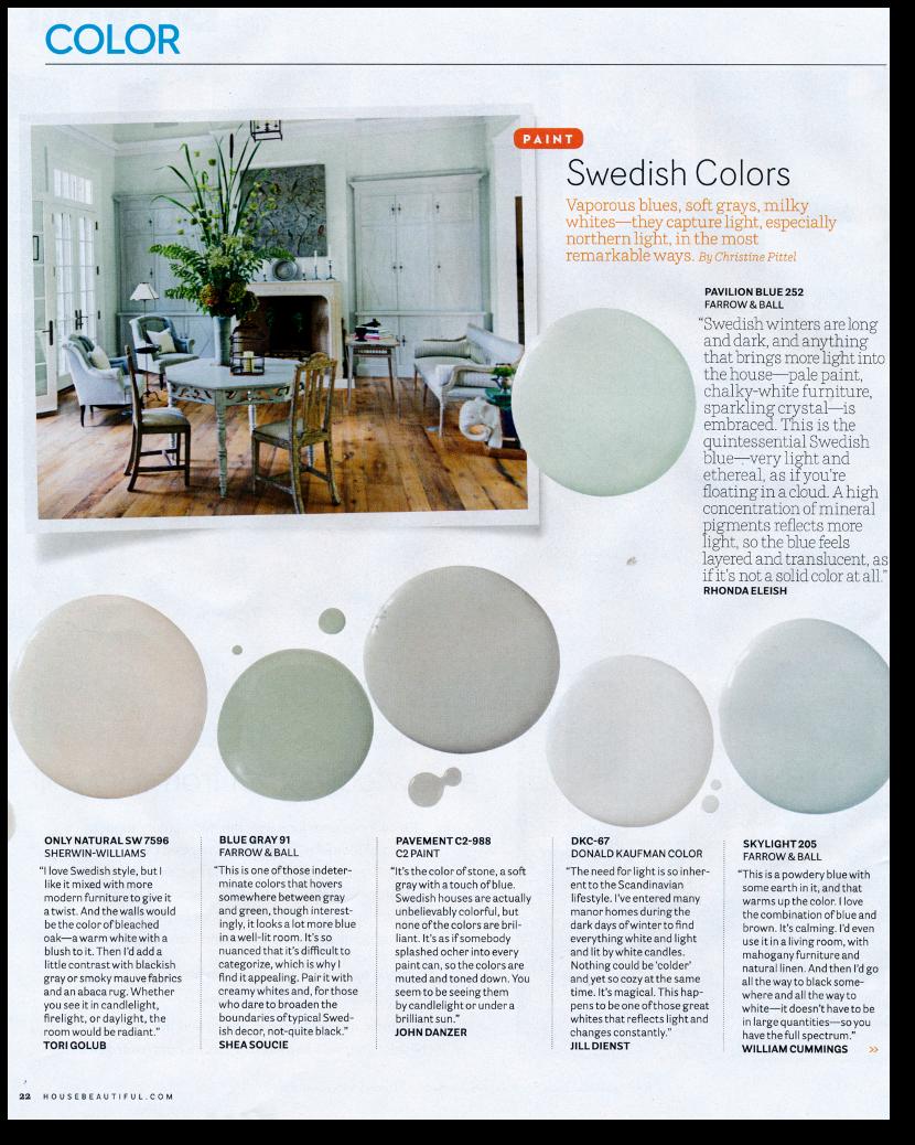 12 Interior Designers Pick Their Favorite Swedish Paint Colors Tori Golub Suggests Only Natural Sw 7596 Fro Met Afbeeldingen Verfkleuren Scandinavisch Interieur Interieur