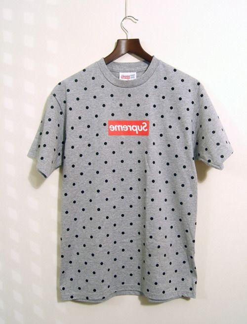 fad685216 Polka dot supreme t shirt   i like   Supreme t shirt, Supreme shirt ...