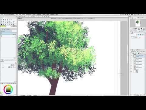 CSP Color Foliage Brush Tutorial | Manga Studio/Clip Studio ...