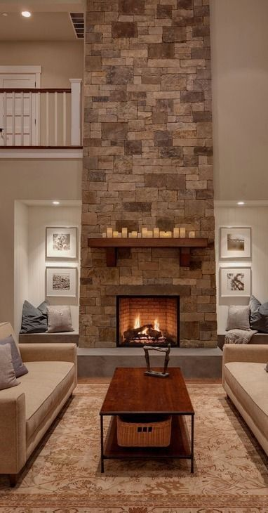 Home Design  40 Ideas For Living Room Decor  Interiors House Entrancing Living Room Designs With Fireplace Review