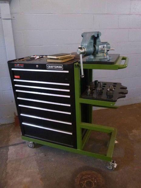 Rolling Tool Cart With Shelves Shop Tool Cart Garage