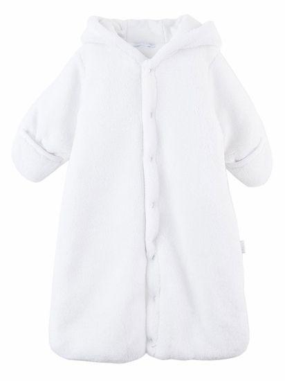 Le Top Baby Safari White Hooded Plush Snuggle Bag w/ Ears