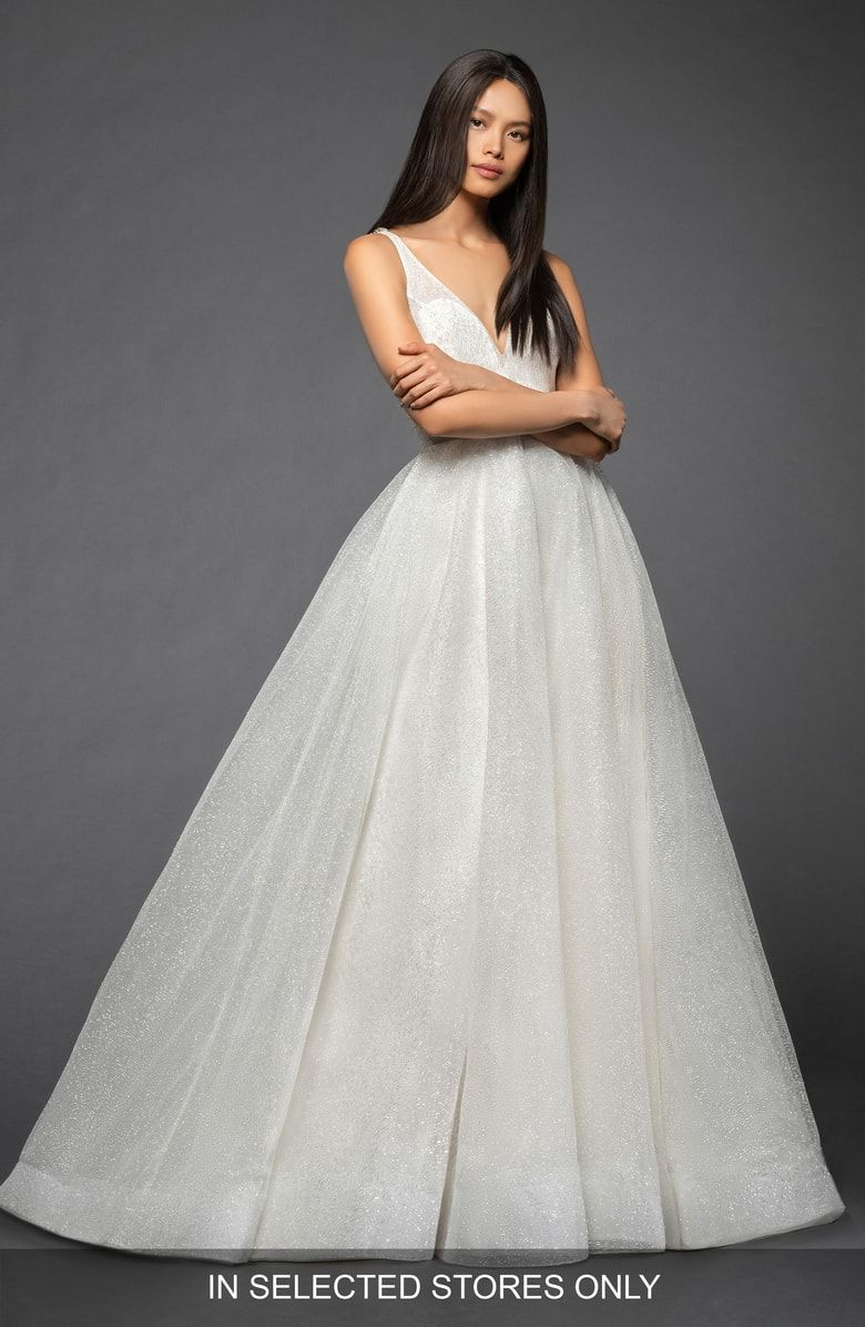 Nordstrom wedding dress  Free shipping and returns on Lazaro Yesi Shimmer Tulle Ballgown at