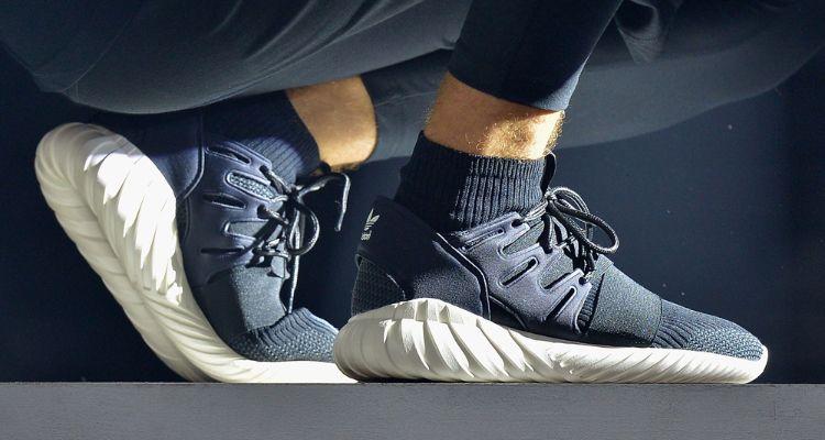 check out 9aa88 6490b Adidas Tubular Doom On Foot
