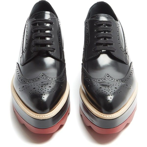 Prada Leather Brogue Oxfords clearance order Xwc9HZGva