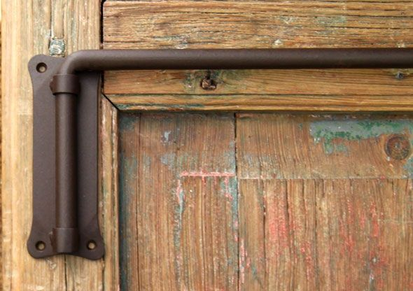 Swinging Arm Curtain Rod. Also, The Door Is Awesome.