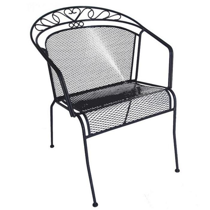 Wrought Iron Low Back Patio Chair