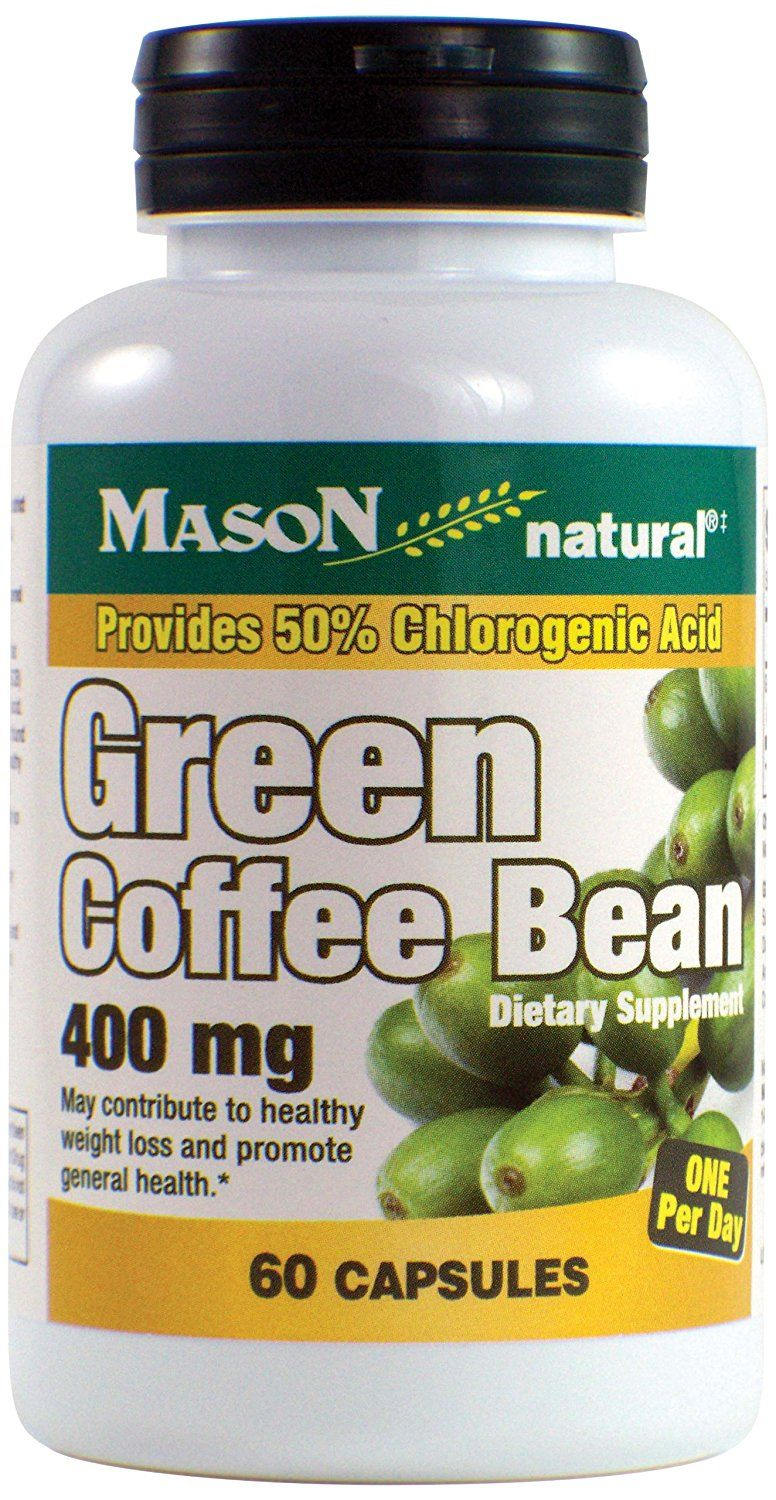 Mason Natural Diet Supplements, Green Coffee Bean, 400 mg